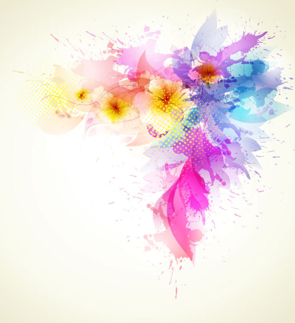 Color Splatter Background Colorful Splash Background