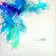 Link toSplash color flower backgrounds vector 04