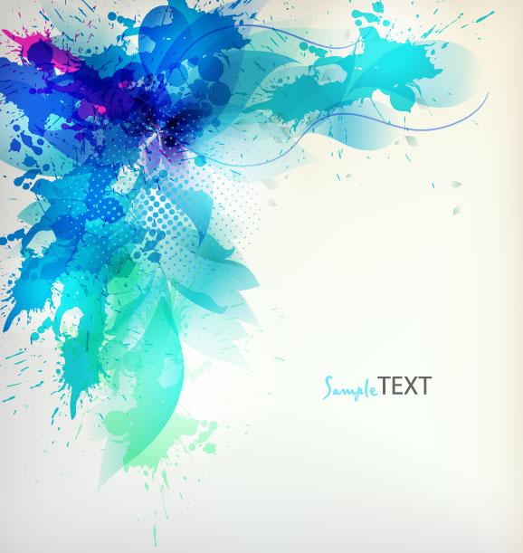 Free Colorful Flower Wallpaper Downloads: Splash Color Flower Backgrounds Vector 04
