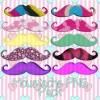 Various color mustache mix png pack