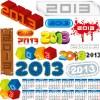2013 design elements and 2013 Calendar vector 01