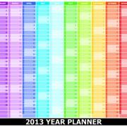 Link toElements of 2013 year planner calendars design vector 03