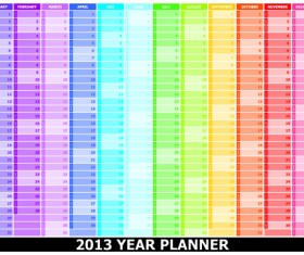 Elements of 2013 Year Planner Calendars design Vector 03