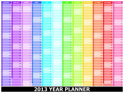 Elements of 2013 Year Planner Calendars design Vector 03