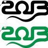 Set of 2013 year of snake design vector 03