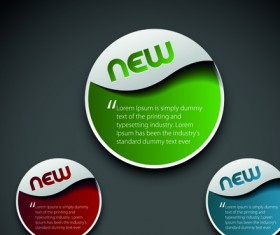 Modern labels for you text vector 01