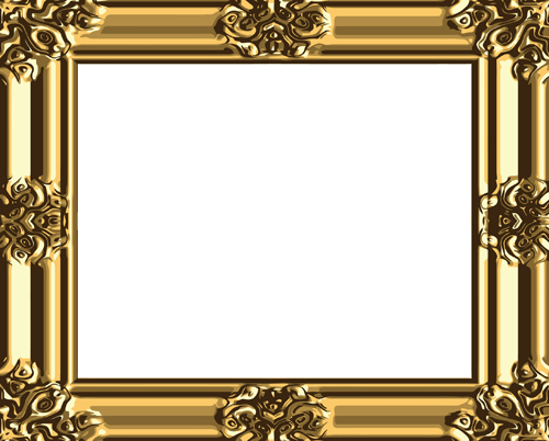 Set of Antique Gold Photo Frame elements vector 03 free download