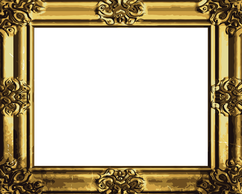 ... gold photo frame elements vector 04 download name set of antique gold: freedesignfile.com/21981-set-of-antique-gold-photo-frame-elements...
