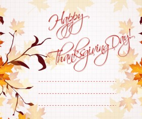 Autumn elements Greeting Cards design vector 02