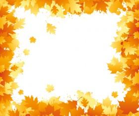 Autumn elements of Frames vector 01