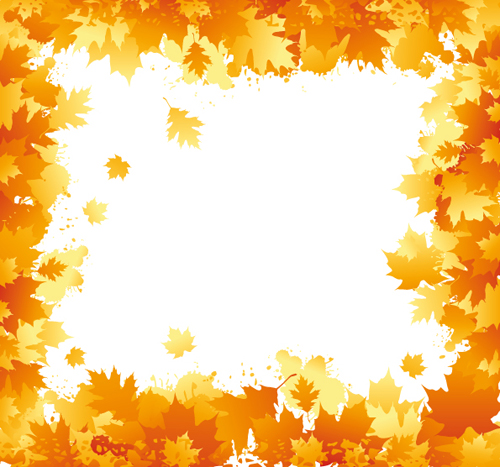 Autumn elements of Frames vector 01