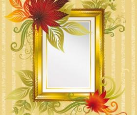 Autumn elements of Frames vector 02