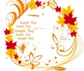 Autumn elements of Frames vector 03