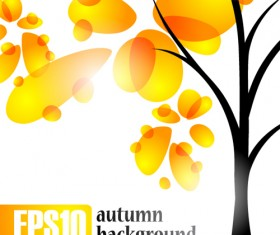 Autumn of Tree design vector ser 01