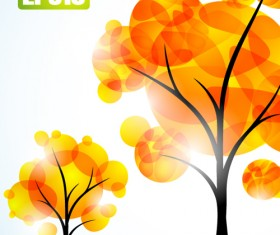 Autumn of Tree design vector ser 05