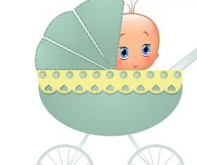 Cute baby cards design vector set 01