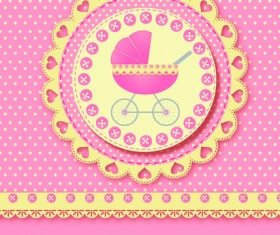 Cute baby cards design vector set 02