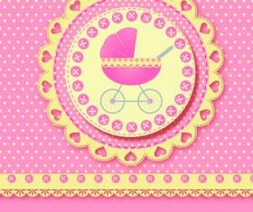 Cute baby cards design vector set 02