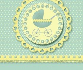 Cute baby cards design vector set 03