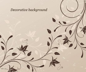 Elements of Floral decoration Background vector 02