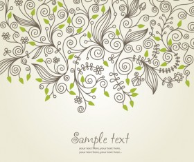 Elements of Floral decoration Background vector 04