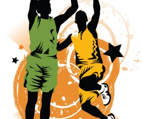 Set of Basketball design elements vector material 02