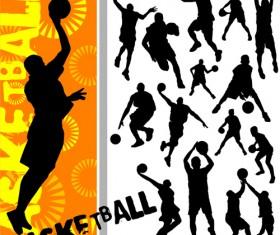 Set of Basketball design elements vector material 04