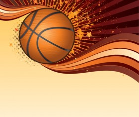 Set of Basketball design elements vector material 05