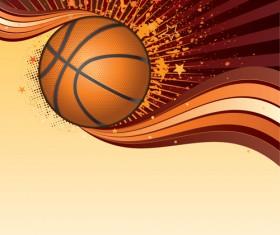 Set of Basketball design elements vector material 05