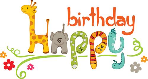 Creative Happy Birthday design elements vector art 01 - Vector ...