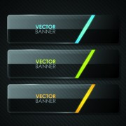 Link toSet of shiny black banners vector 04