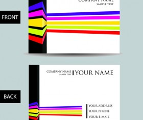 Set of Creative Modern Business Cards vector 01