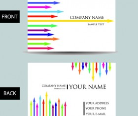 Set of Creative Modern Business Cards vector 02