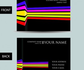 Set of Creative Modern Business Cards vector 03