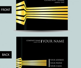 Set of Creative Modern Business Cards vector 04