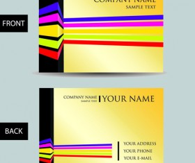Set of Creative Modern Business Cards vector 05