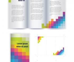 Business brochure cover vector set 01