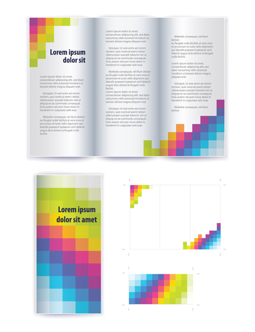 free vector brochure design templates .
