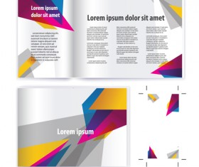 Business brochure cover vector set 02