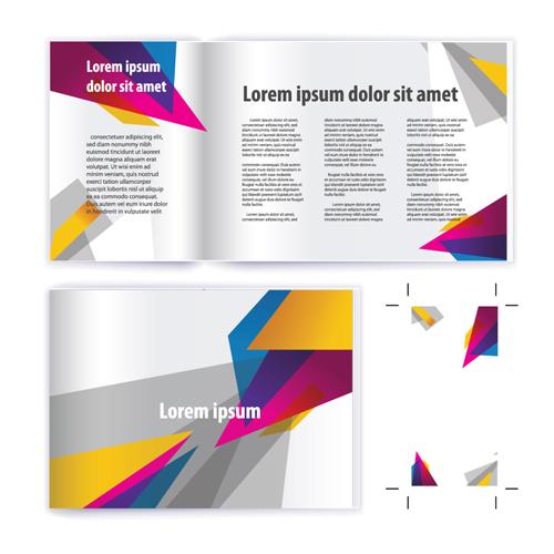 Business brochure cover vector set 02
