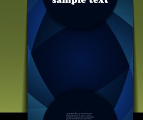 Elements of Business flyers and brochures cover vector 03