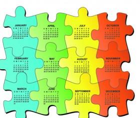 Set of Calendar 2013 design elements vector 02