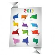 Link toSet of calendar 2013 design elements vector 04