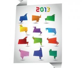 Set of Calendar 2013 design elements vector 04