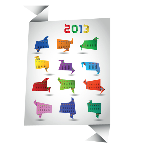 Set of Calendar 2013 design elements vector 04