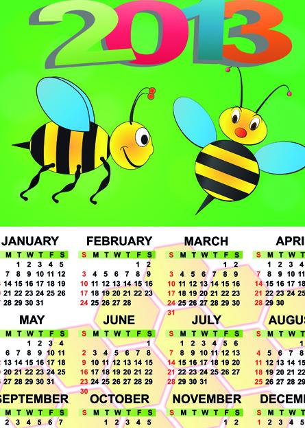 Set of Calendar 2013 design elements vector 05