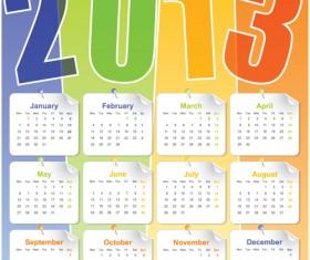 Set of Calendar 2013 design elements vector 06