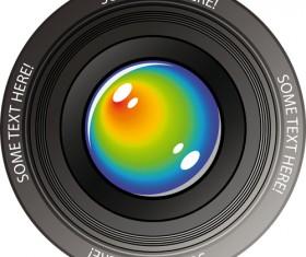 Different Camera lens mix vector set 01