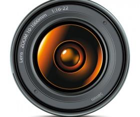 Different Camera lens mix vector set 03