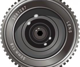 Different Camera lens mix vector set 04